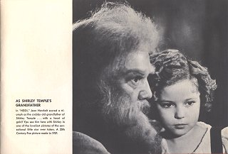 Jean Hersholt As Shirley Temple's Grandfather In Heidi, 1937