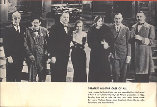 Jean Hersholt With The Cast Of Grand Hotel, 1932